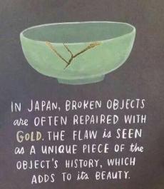 broken pottery